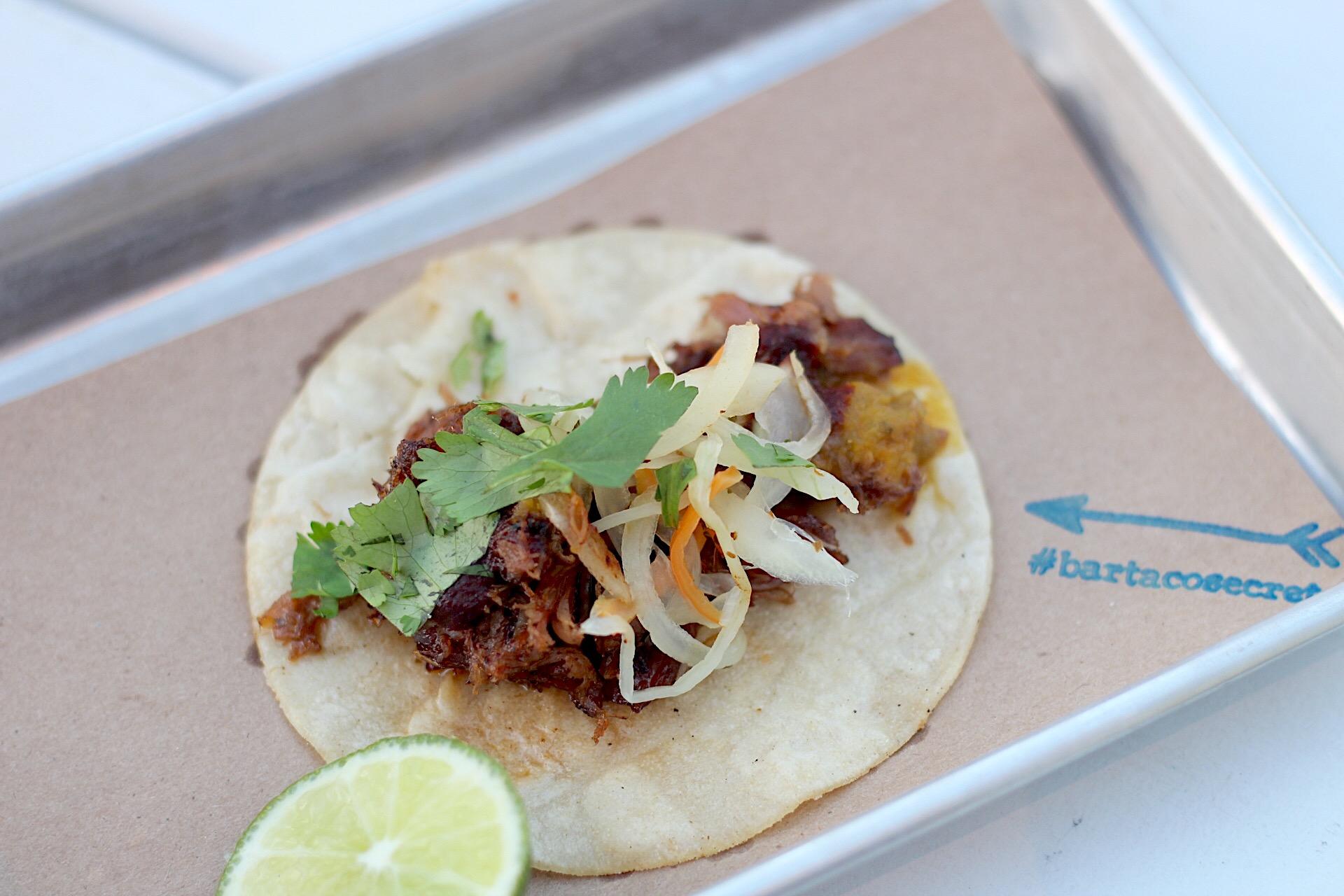 The new #bartacosecret taco. So good!