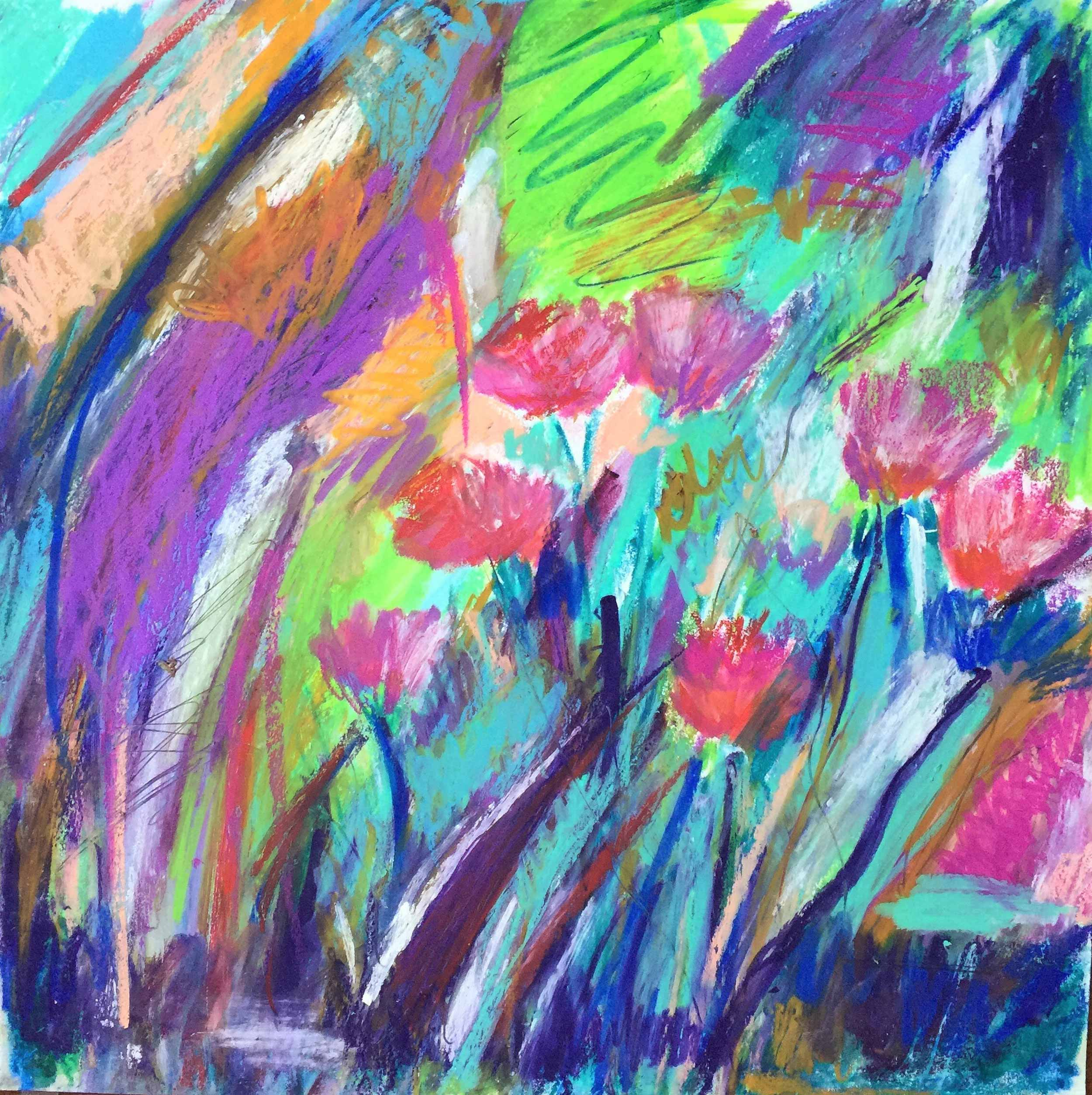 This oil pastel sketch was a section from another sketch that I enlarged
