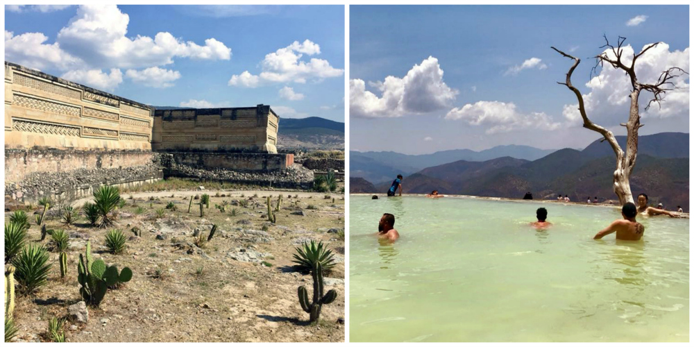 Archaeological ruins in Mitla and Hierve El Agua