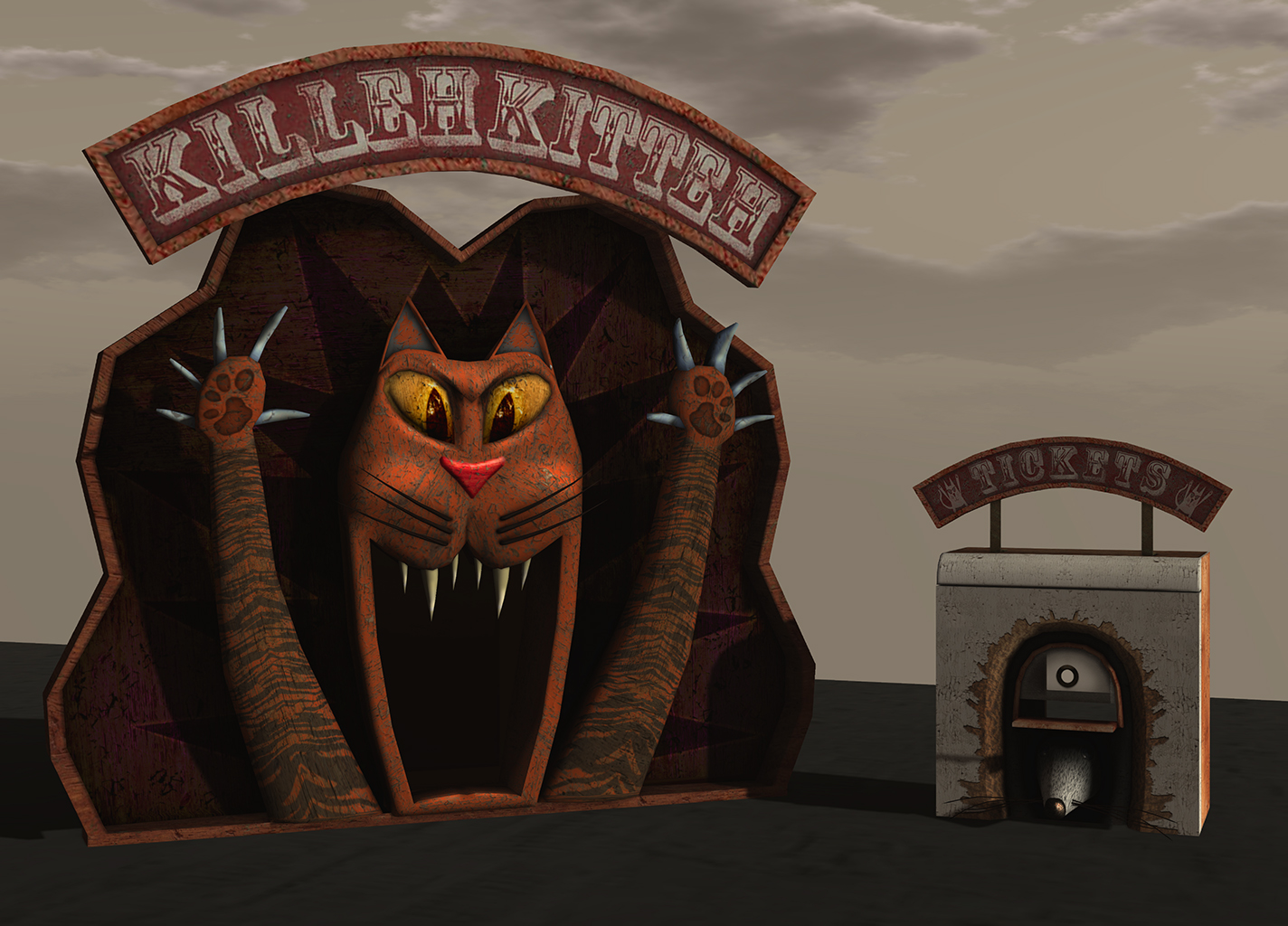 Killeh Kitteh Carnival Facade for MadPea Productions
