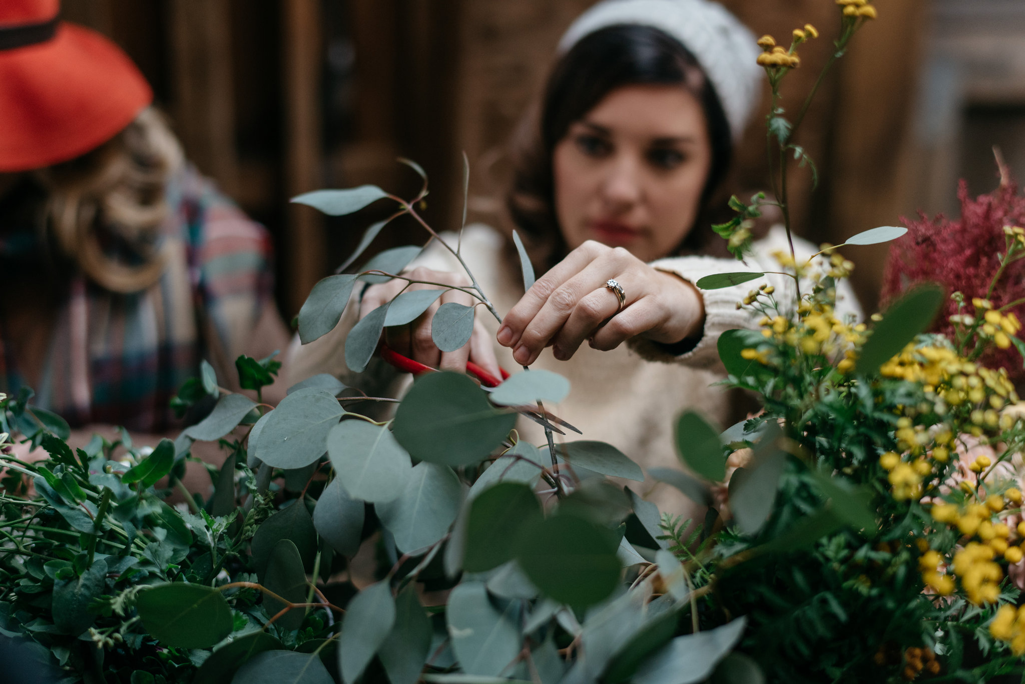 Photo by Andrew Franciosa of Flower Scout flower crown workshop