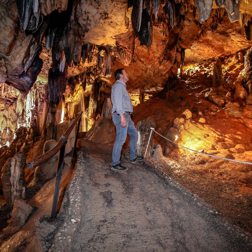 Learn all about the rich history of DeSoto Caverns with a trip to the Underground Classroom