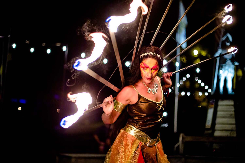 La Santa Damania's Fire Performance