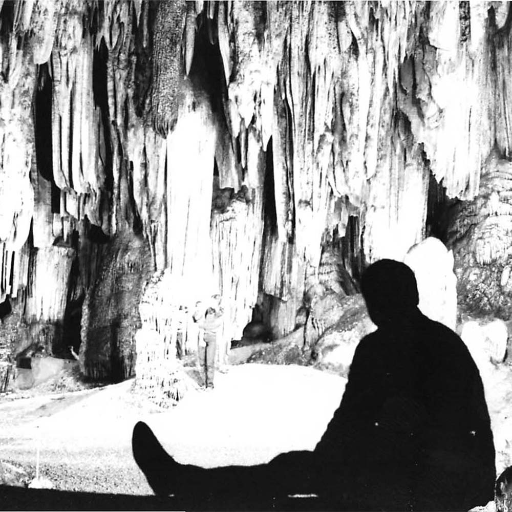 Allen W. Mathis III in the cave when he first took over DeSoto Caverns.