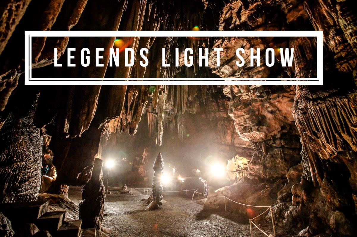 Legends Light Show at DeSoto Caverns