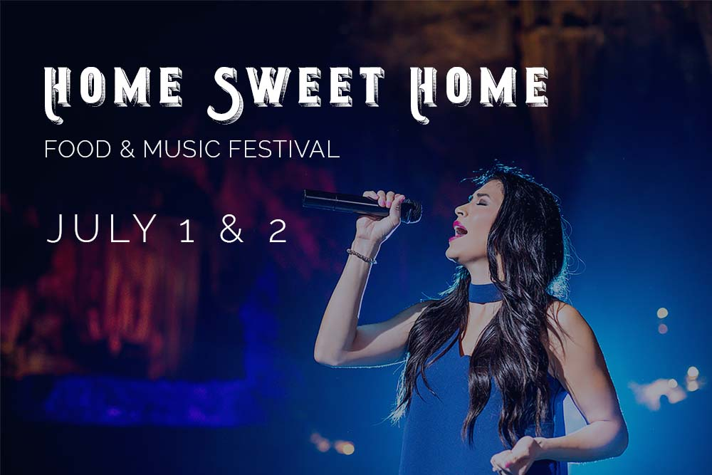 Celebrate Independence Day with Home Sweet Home, a Food & Music Festival at DeSoto Caverns.