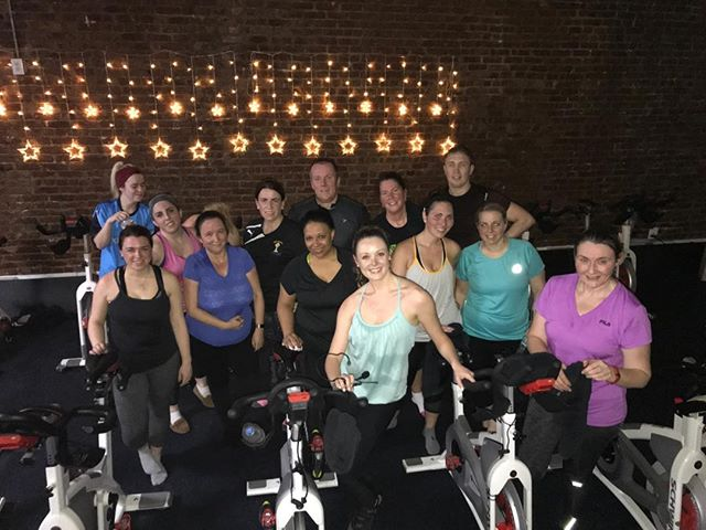 @meg_navone and class killed it again last night and we're still able to smile 💪🚴🏼♂️🚴🏼♀️ #revitup #allsmiles