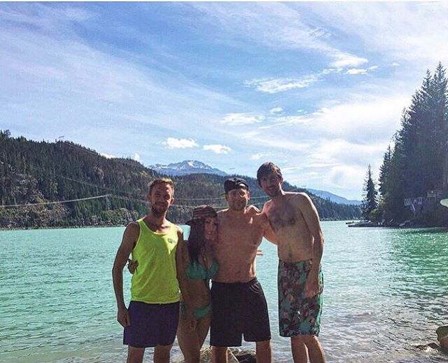 Lake dips + ableton hits 💦🚀 #starcaptains #summervibes #whistler #greenlake #ableton