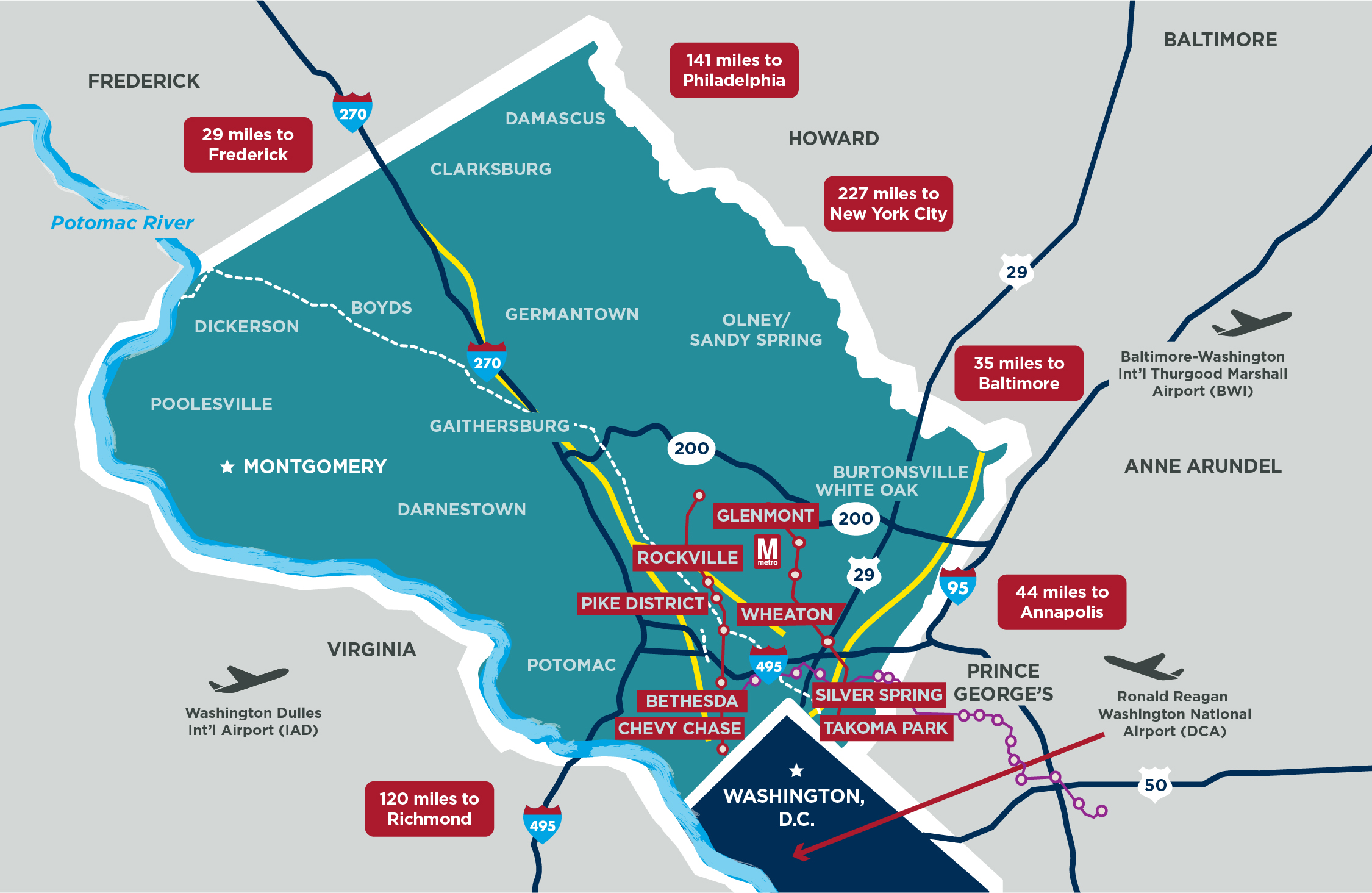 Connectivity — MCEDC on hoover reservoir map, i 70 map, i 495 map, interstate 270 map,