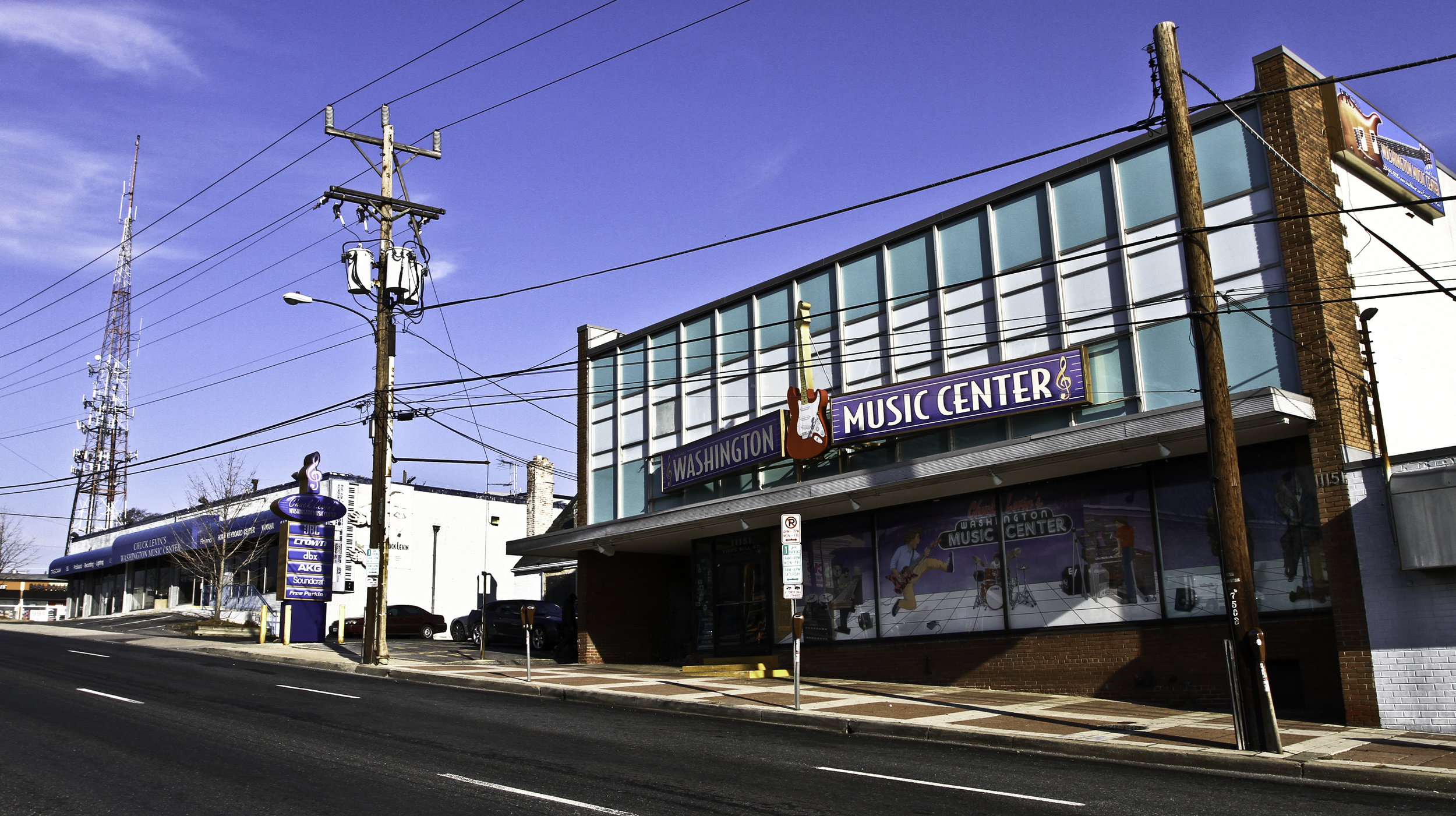 - Chuck Levin's Washington Music Center main building in Wheaton, MD, before new construction