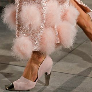 Details from Chanel F\W 2012 ..I'm feeling it now #Chanel #fashion #modern fashion #pink #fur #colorfur #tminx #touchofminx