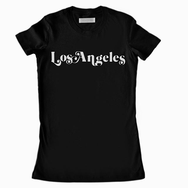 "The ""Los Angeles Noir"" tee. New line-up. #vintageinspired #70sinspired #madeinla #vintage typography #losangeles #jackalopepasadena #smallbiz #vintagetype #tminx #touchofminx"