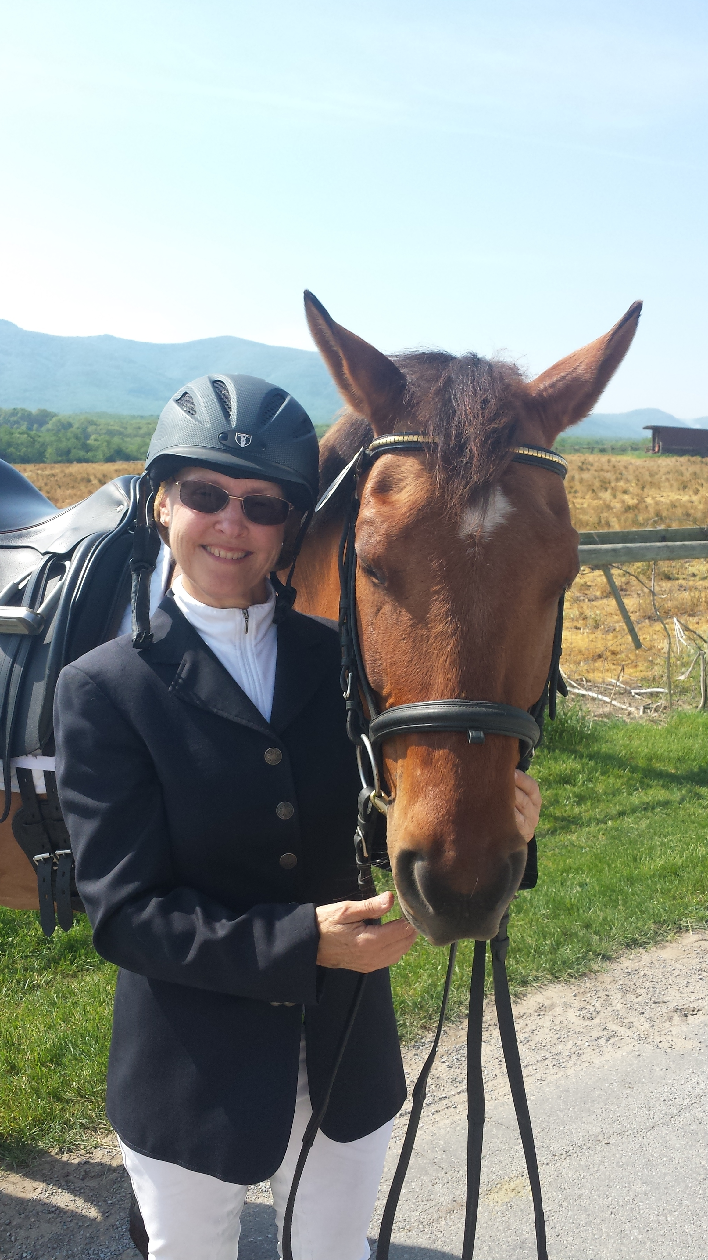 Biddie Lowry, a former eventer, fell in love with Working Equitation this year. Photo shows Biddie with her horse, Oliver, at the Mother's Day Working Equitation Show in Virginia where she was Reserve Champion at the Novice A level.