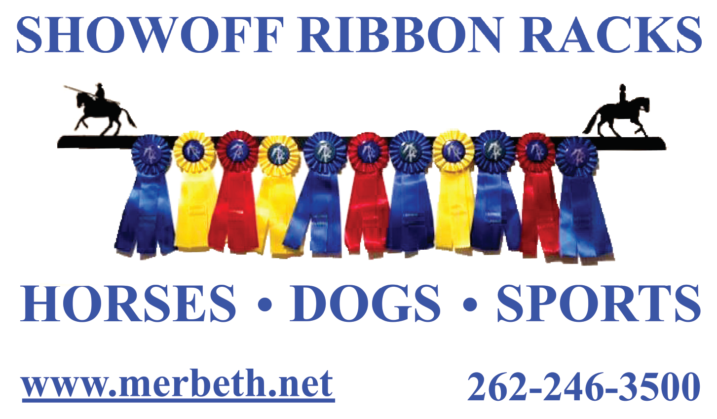 """SHOWOFF RIBBON RACKS  - """"Show off your hard earned ribbons with a SHOWOFF Ribbon Rack """""""