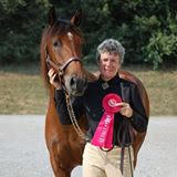 """Qualifying for the National Show is an impressive accomplishment just by itself. All competitors here are winners, regardless of final placement.  Jeanne Bond and her Lusitano Zaire (""""Zeke"""")"""