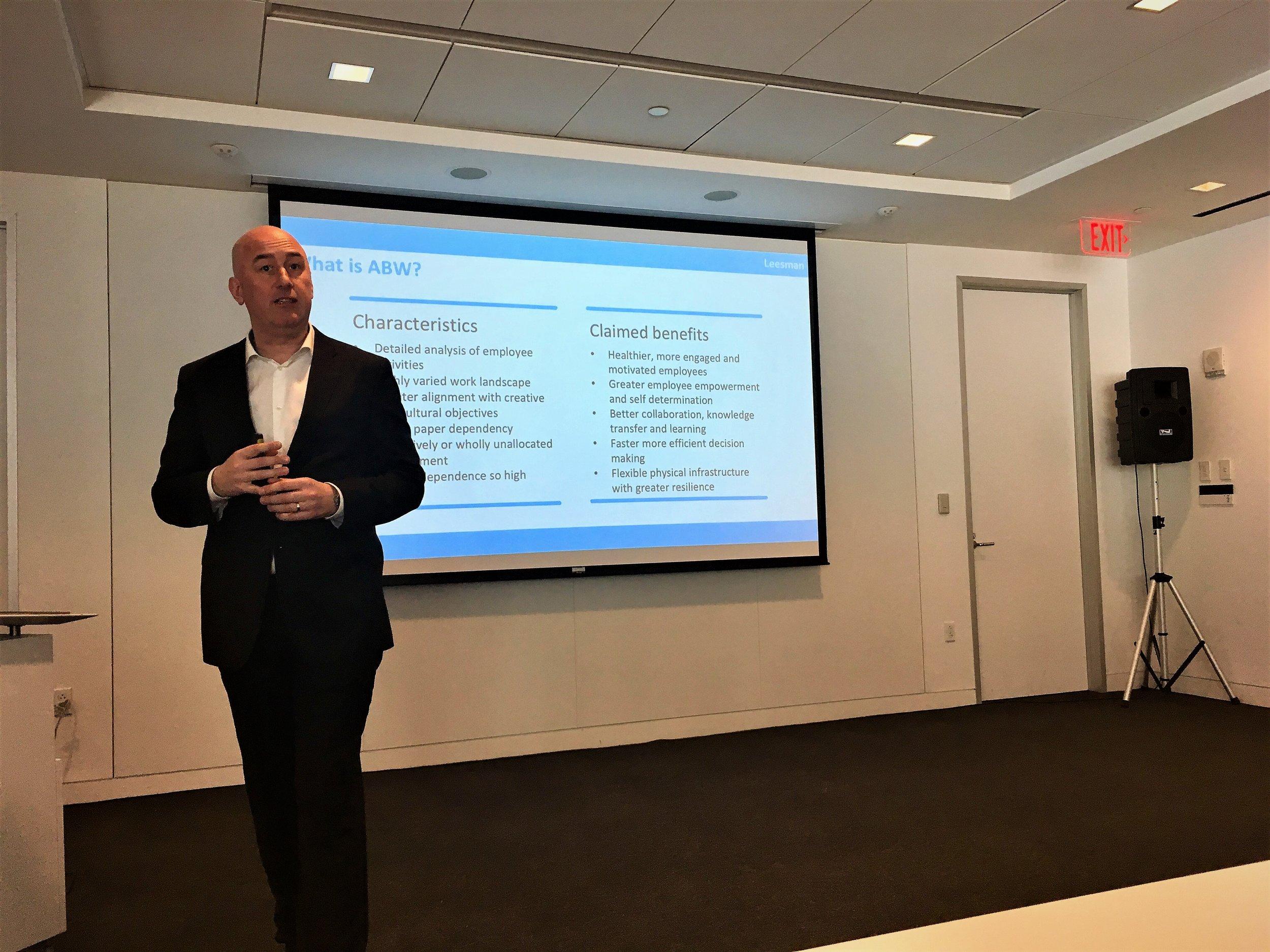 Tim Oldman - CEO and a founder, Leesman speaking at the workshop