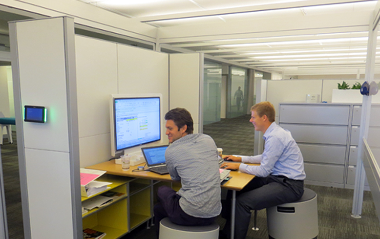 An informal collaboration space, Steelcase Global HQ - Grand Rapids, MI by Stephen Ml Frey