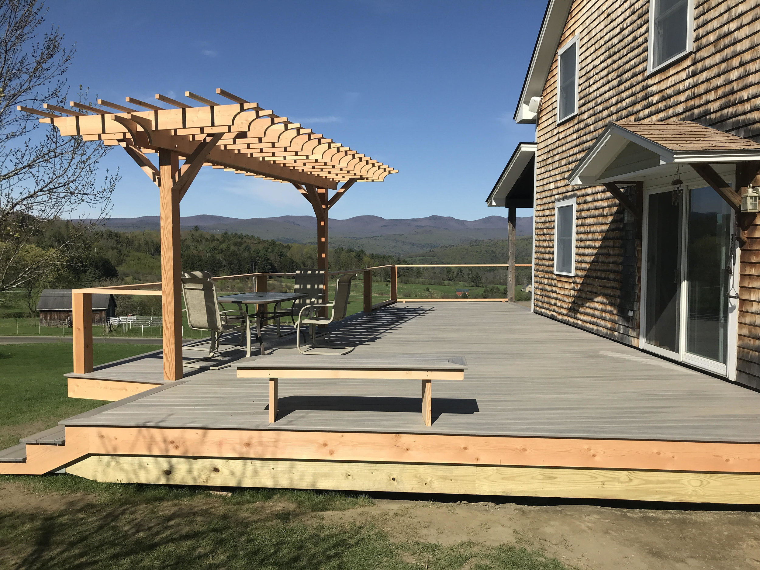 View of new deck