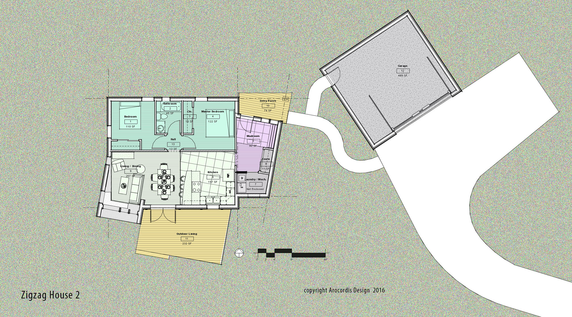 A concept site and ground floor plan - Single level living