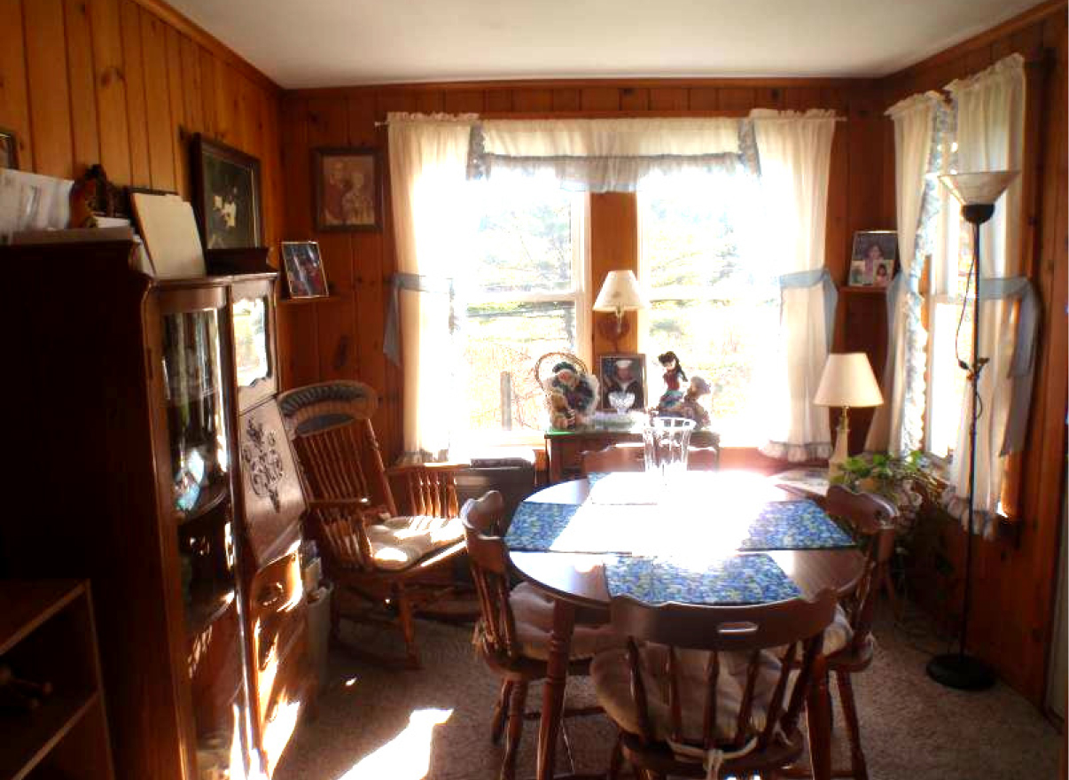 View of existing dining room