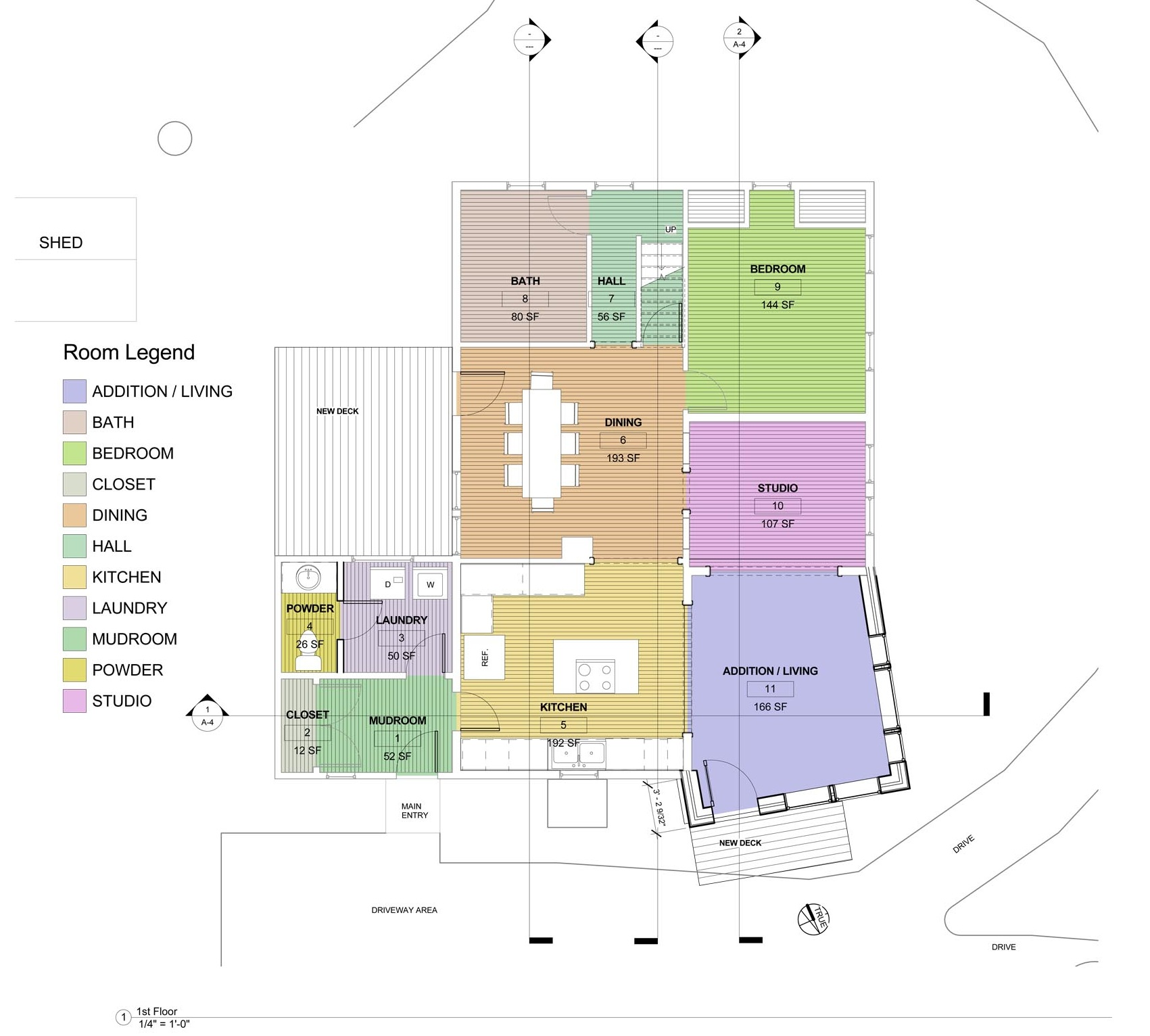 Ground floor plan showing proposed changes