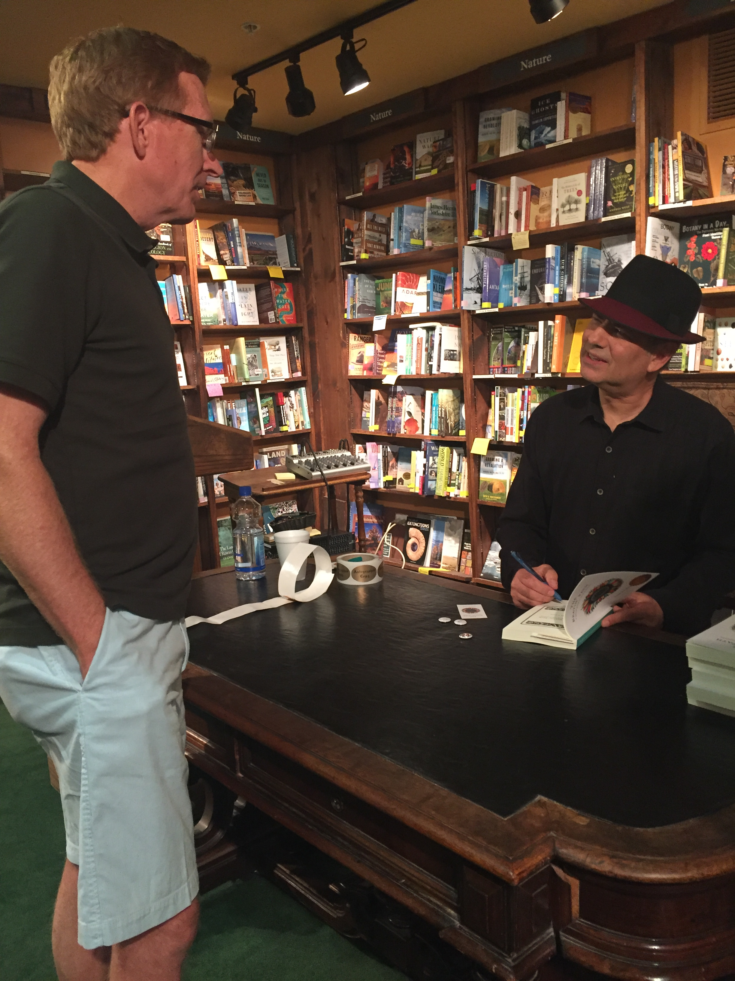 Tattered Cover Book Store, July, 2017 (with Joe Hudson, colleague from the Benson High News)