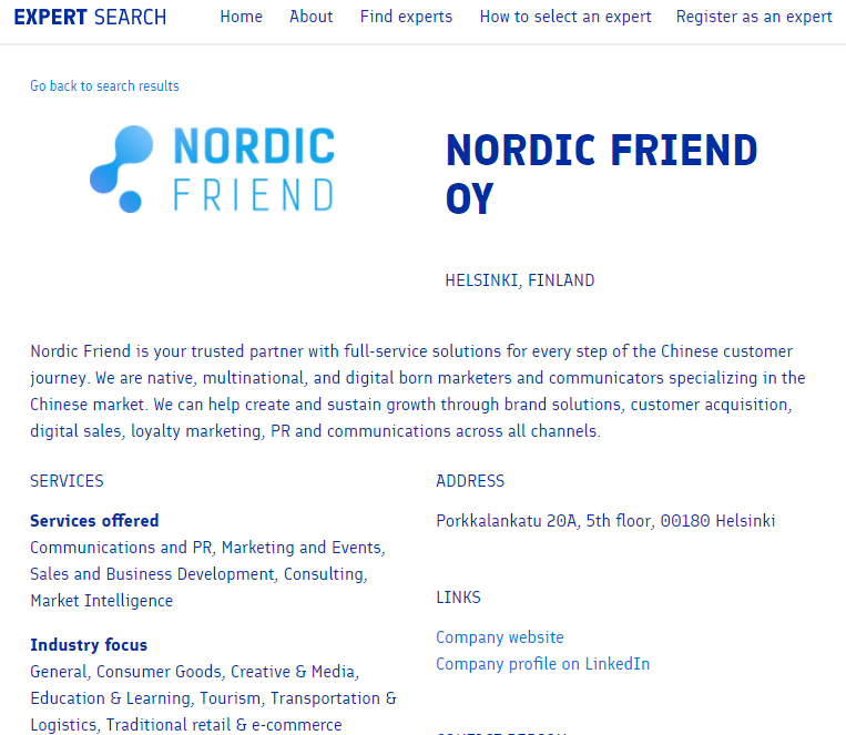 Photo: Business Finland Expert Search Database