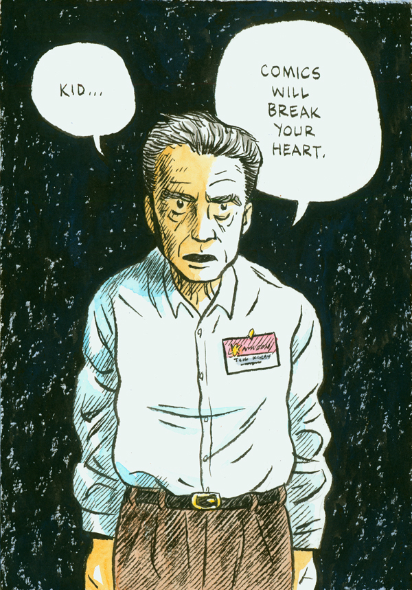 Jack Kirby and his famous quote, by Dylan Horrocks