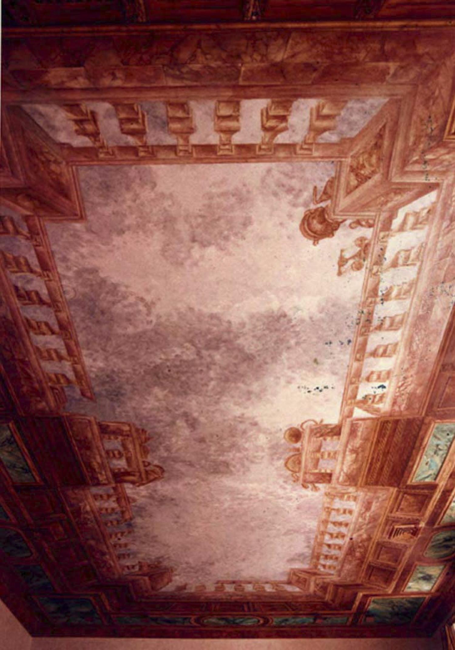 Trompe-l'œil ceiling painting, Palm Beach
