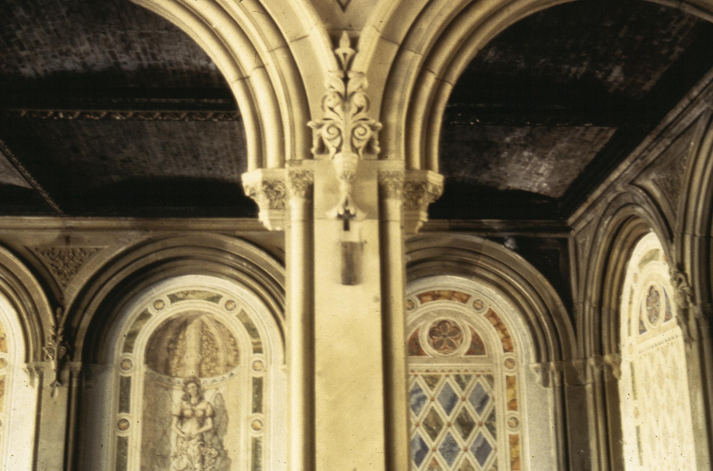 Detail of original limestone ornaments