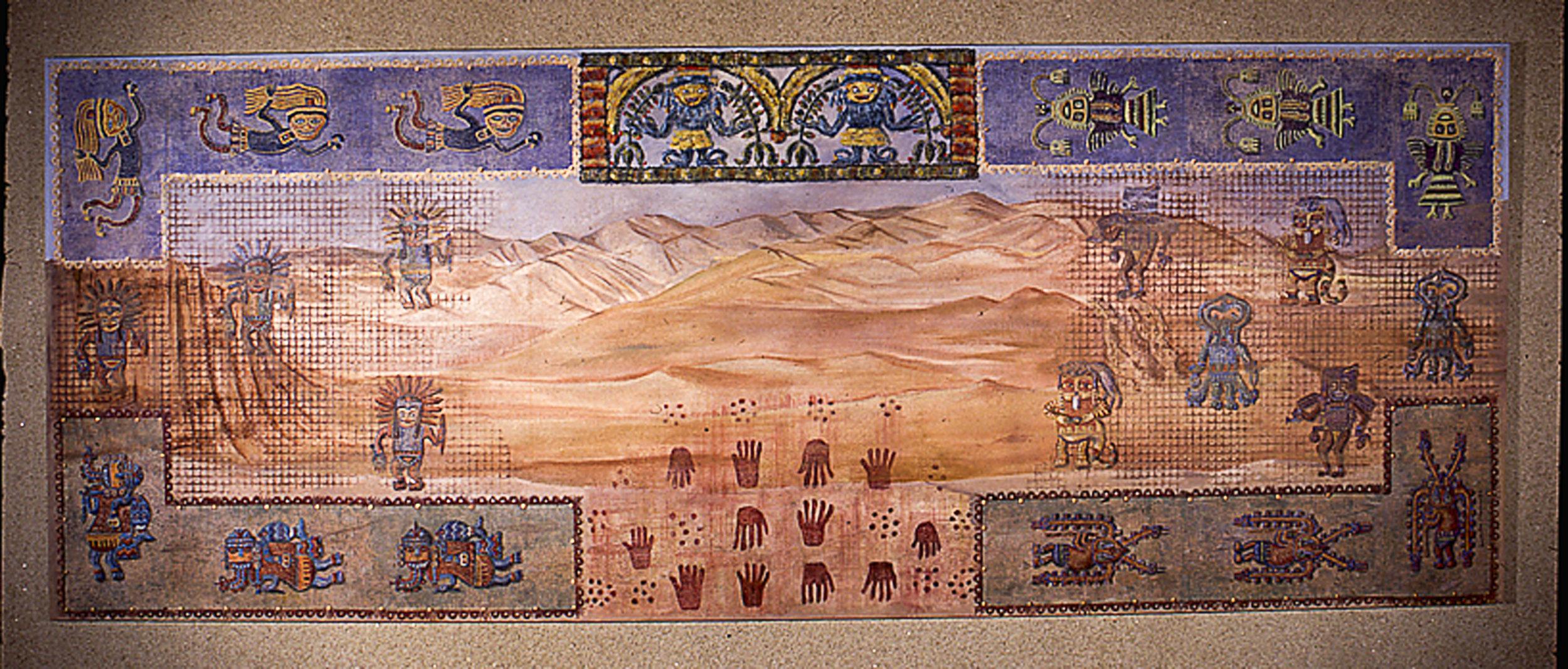 Mural representing the desert