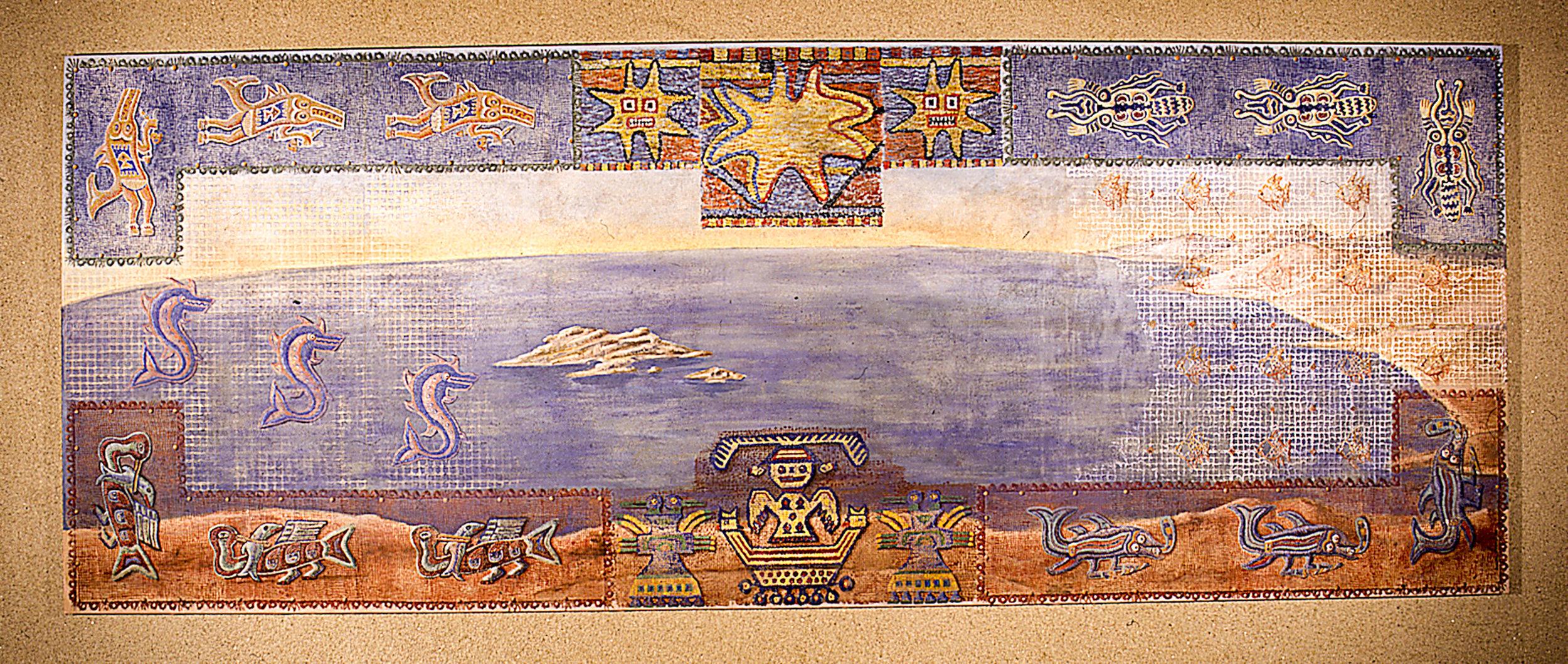 Mural representing the sea