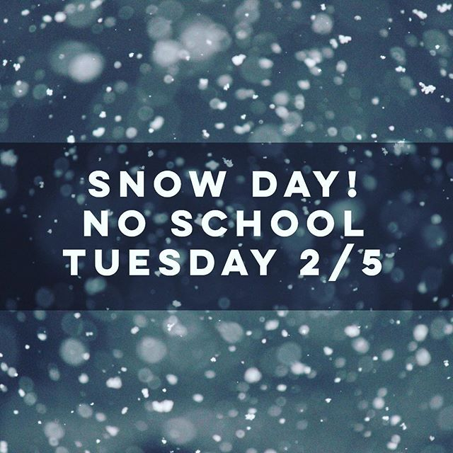 Snow, freezing temps, and bad road conditions. The Clearwater School will be closed today, Tuesday 2/5. ⠀⠀⠀⠀⠀⠀⠀⠀⠀ ❄️Stay warm and enjoy the snow! ❄️