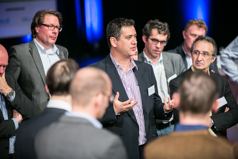 Debating a topic at the IPMA annual conference in the Netherlands in 2015.