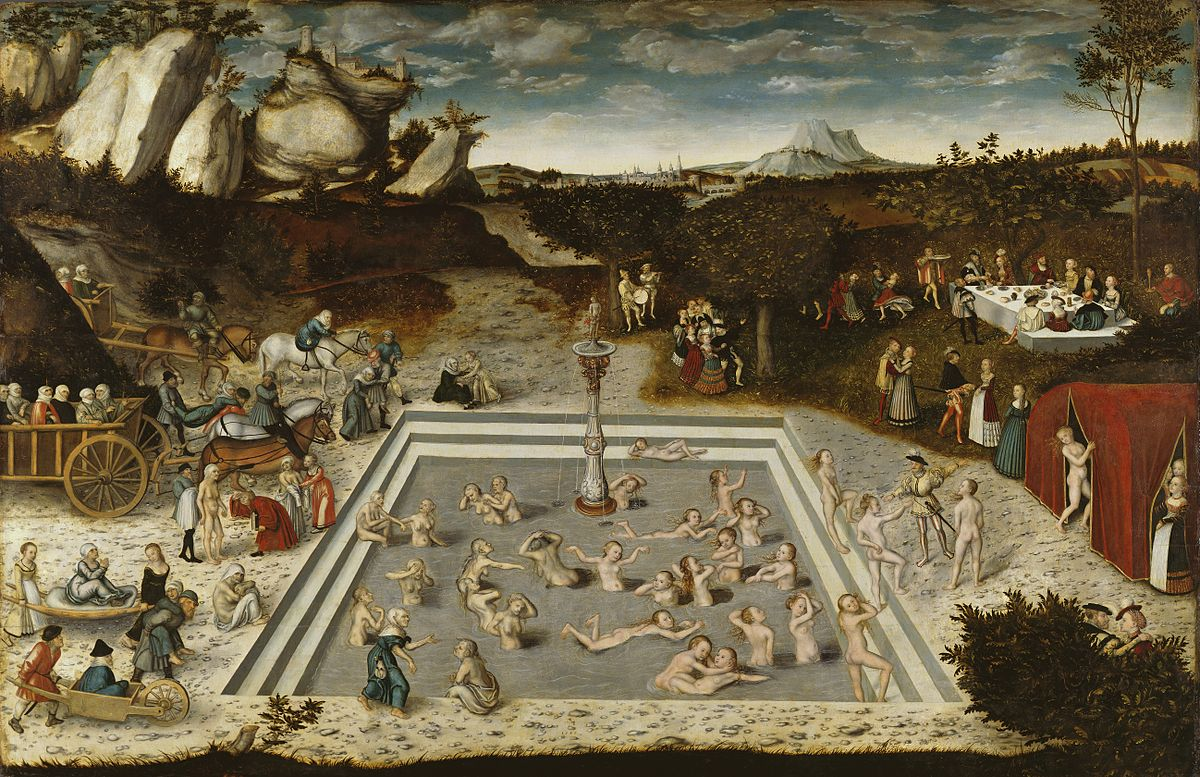 Fountain of Youth,  by Lucas Cranach the Elder, 1546