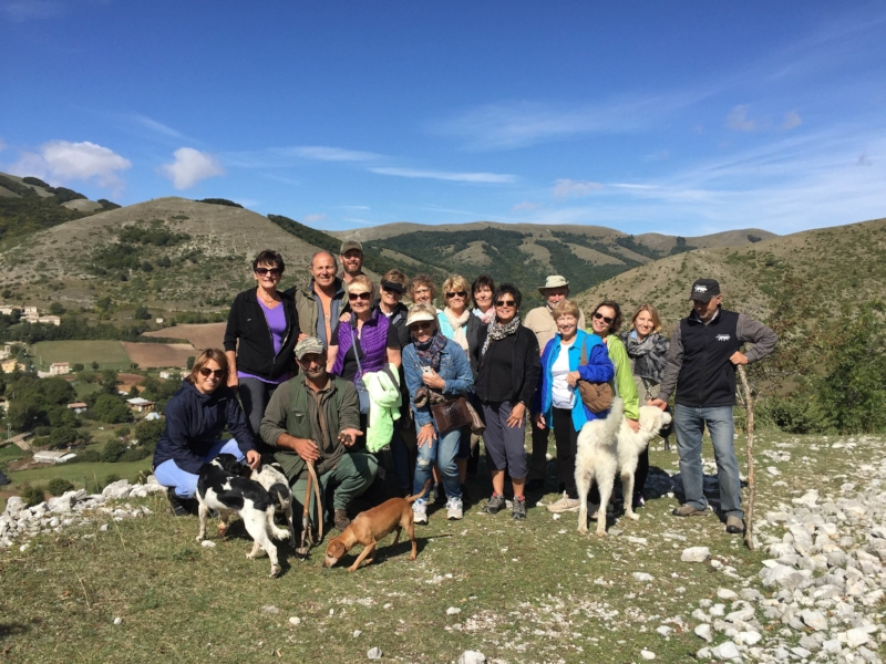 a group of vdg travelers enjoy an afternoon of truffle hunting