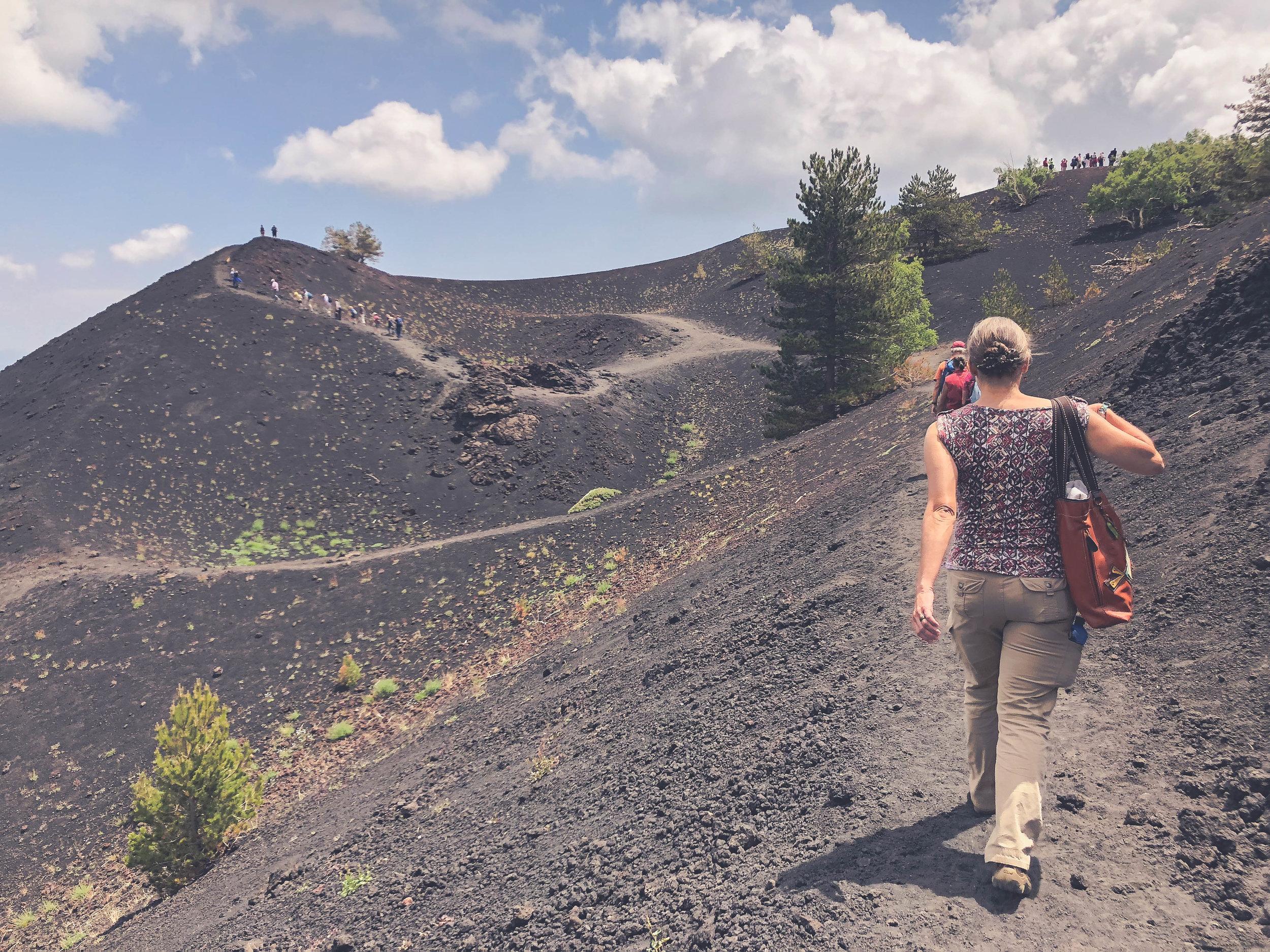 Hiking, Mt Etna.