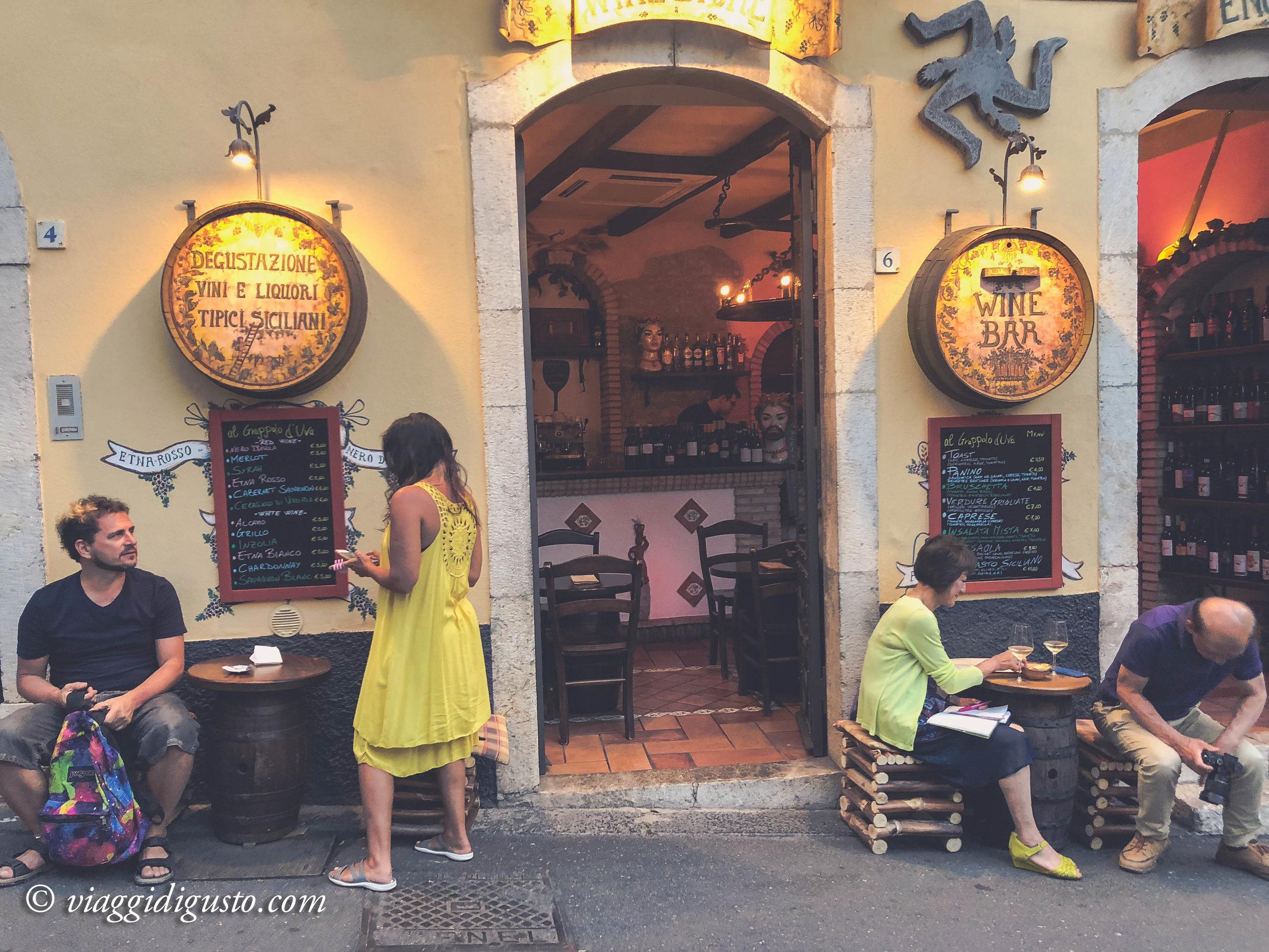 Wine bar, Taormina