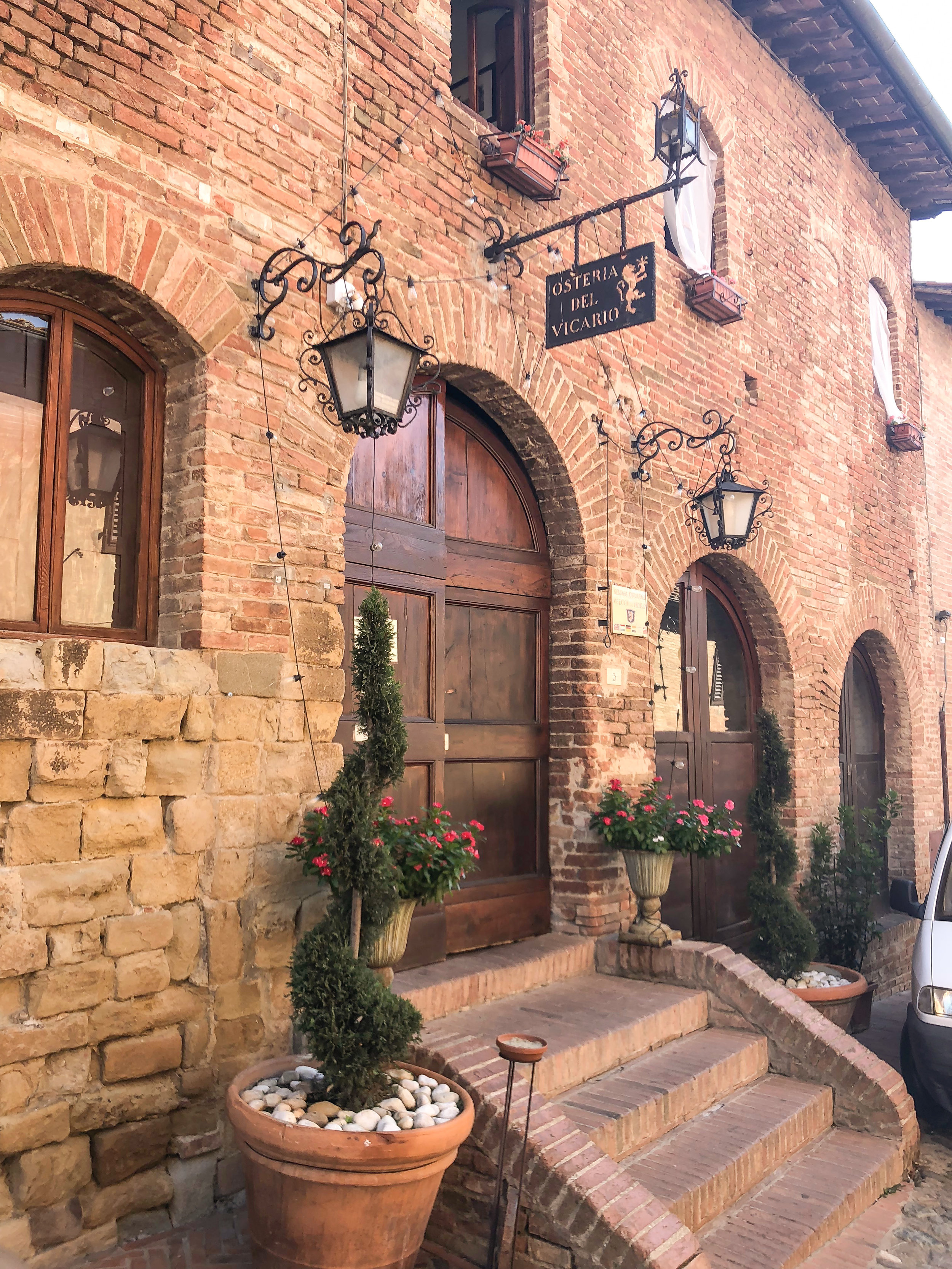 osteria, certaldo. THE ENTIRE VILLAGE IS PRETTY MUCH IS A POSTCARD.