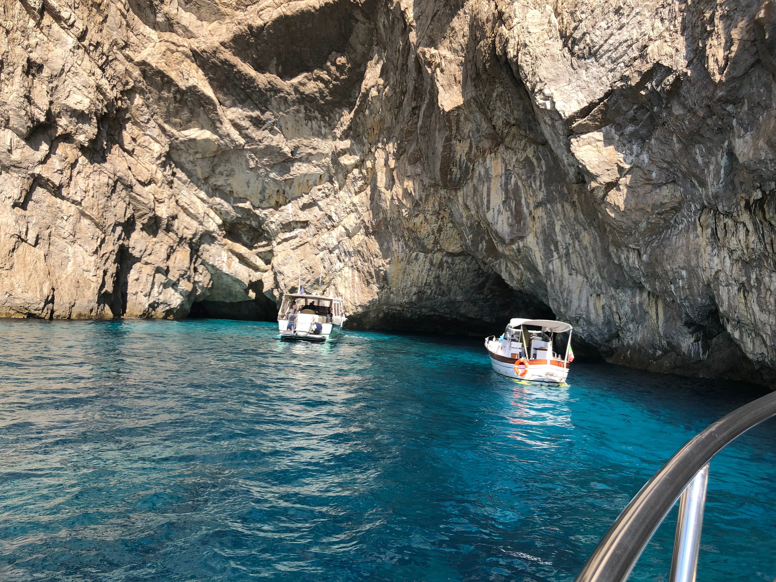 small grottos dot the coastline of southern italy