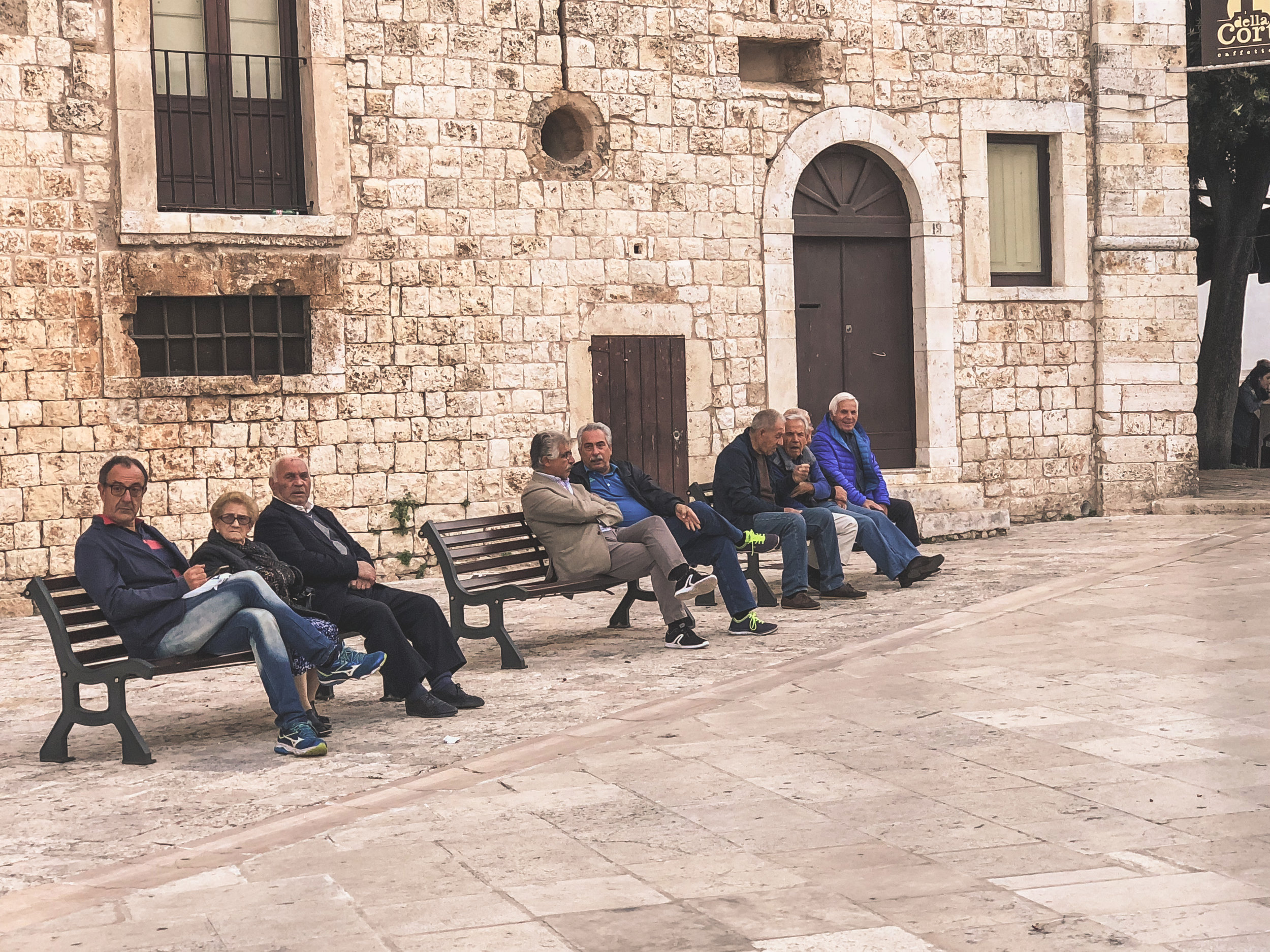 A TYPICAL SCENE IN conversano, puglia