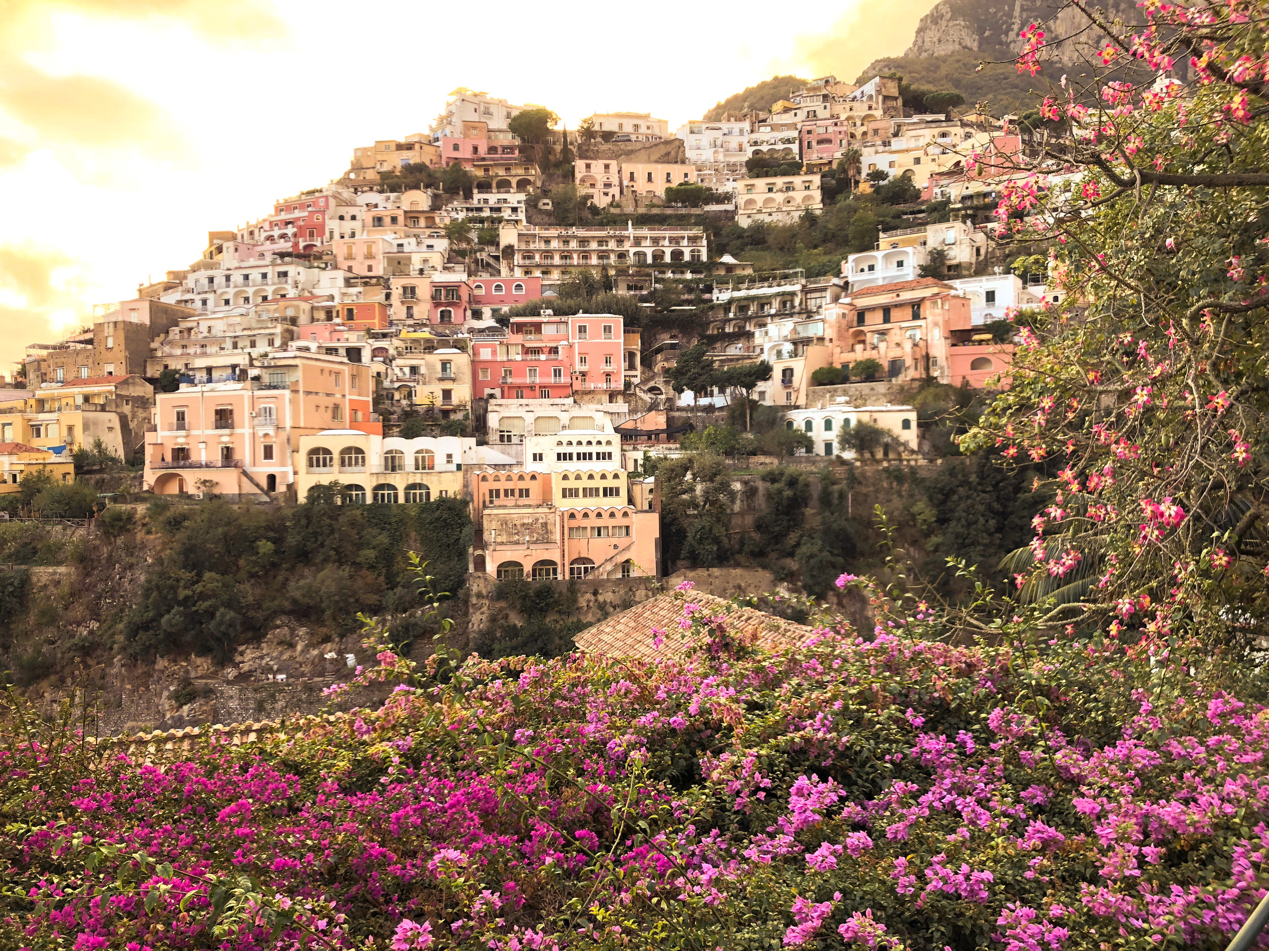 the cascading sun-kissed homes of positano (amalfi coast)