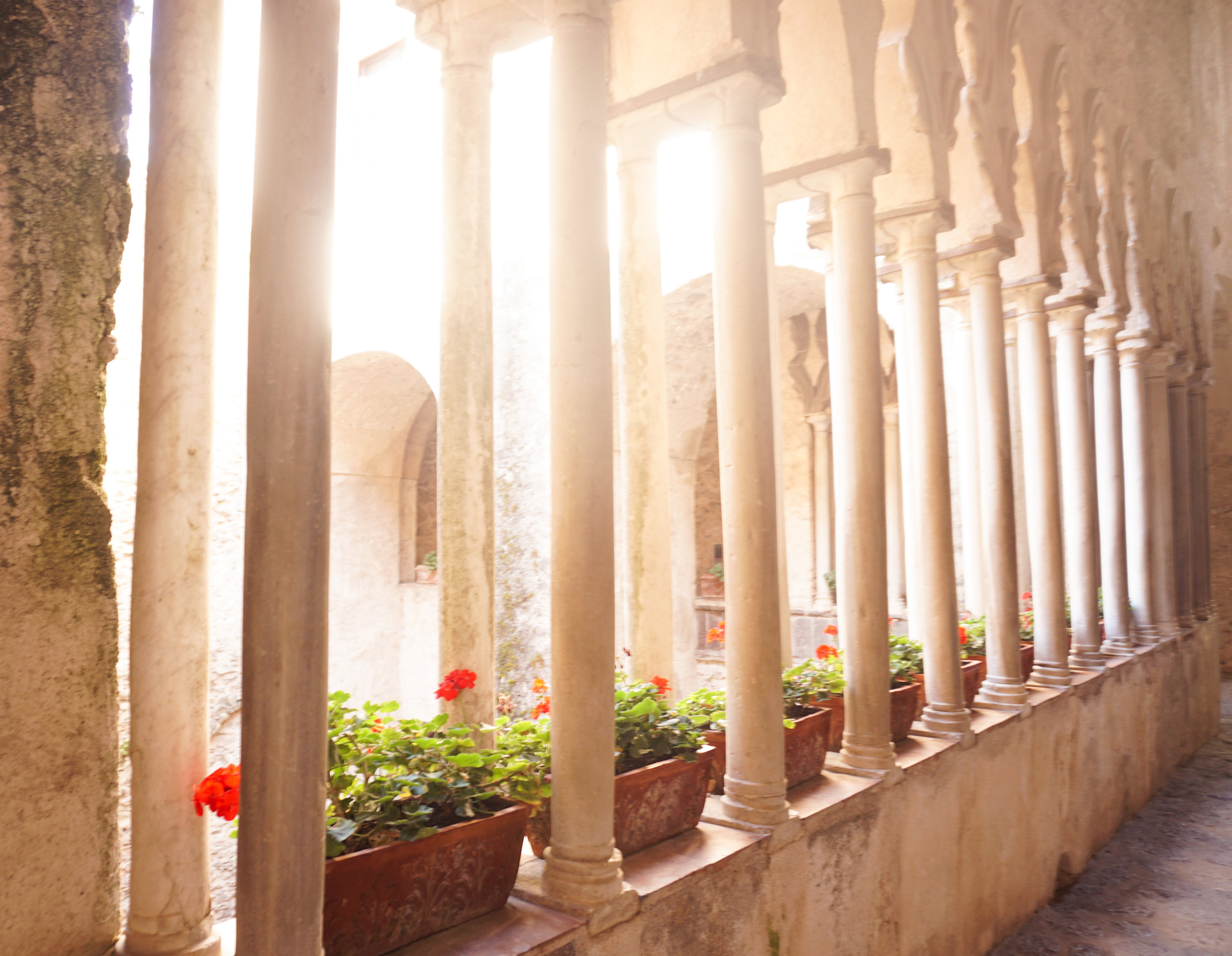 BEAUTIFUL LIGHT AT villa rufulo, located in the historic center of ravello
