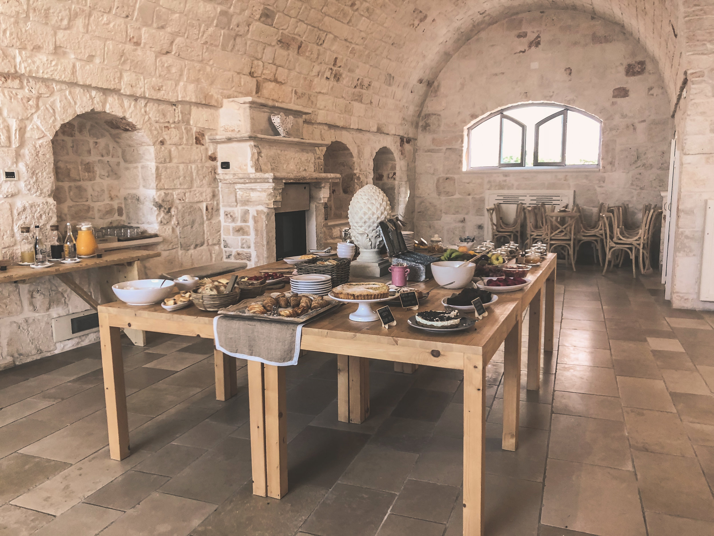 breakfast at masseria grieco, puglia