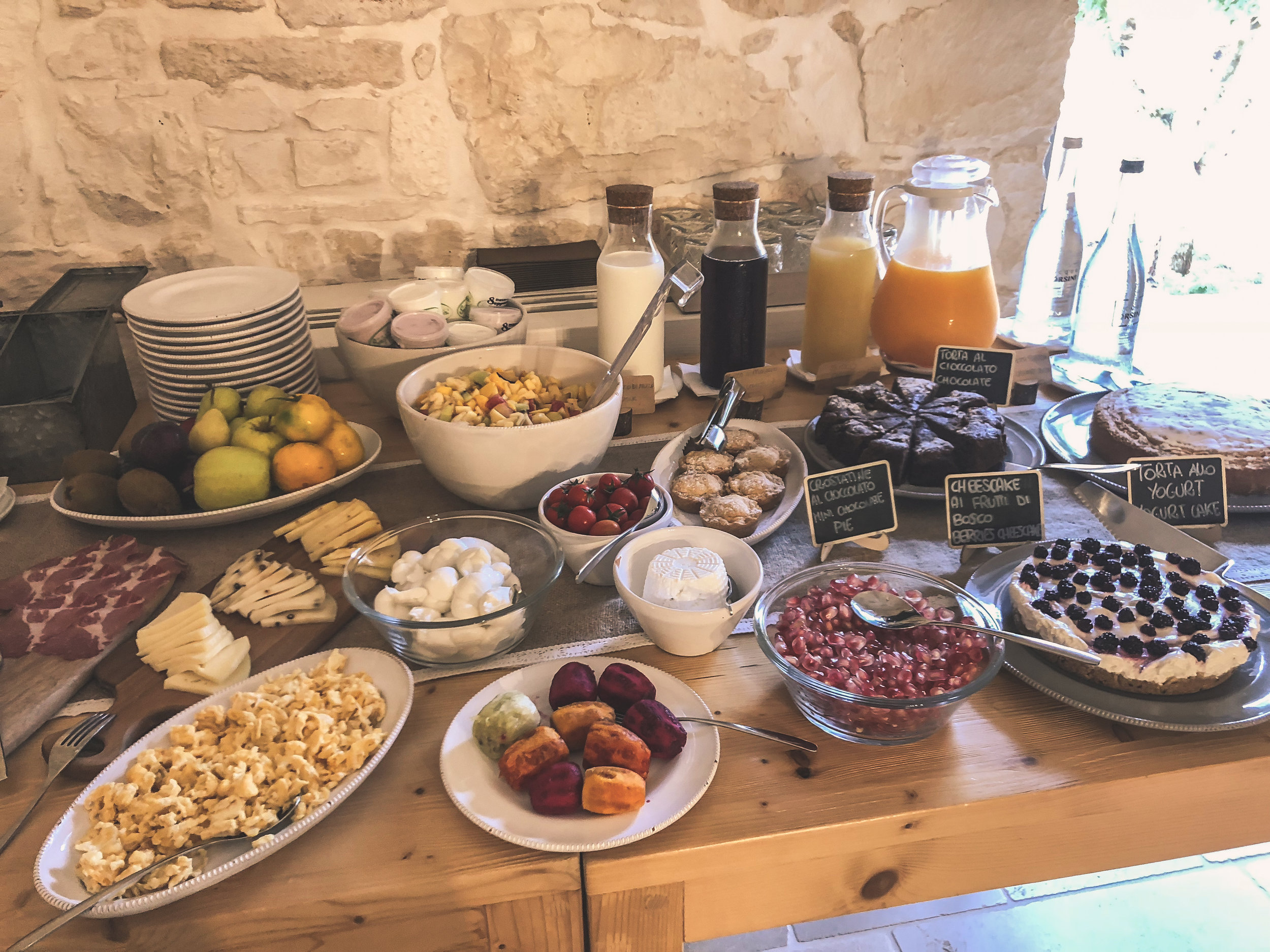 breakfast at masseria grieco, puglia. SO MUCH GOODNESS!