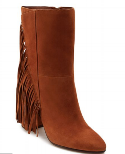 Dolce Vita Women's Short Fringe Almond Toe Suede High-Heel Boots ($134.40) Bloomingdales