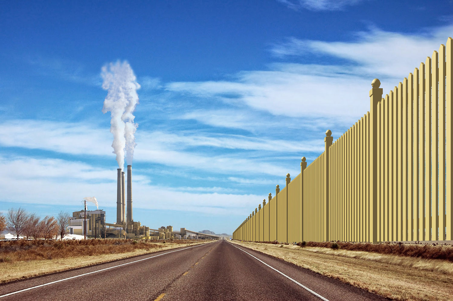 """One of the new coal fired power plants serving the """"wall"""""""