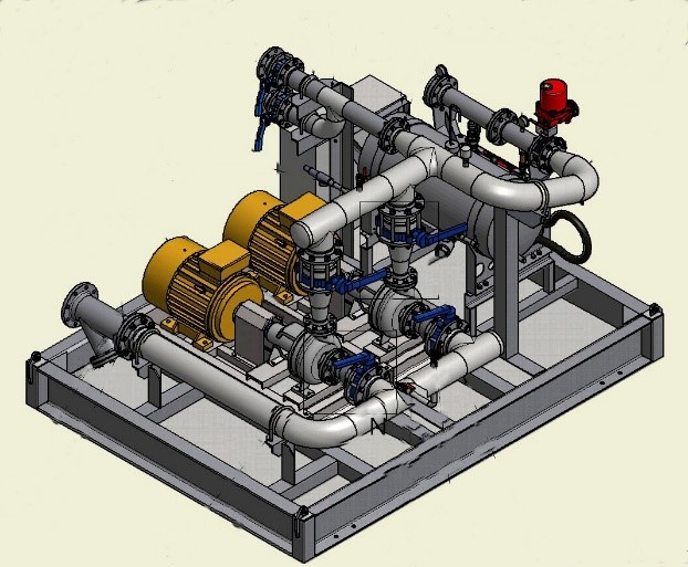 Combined pump and foam skid