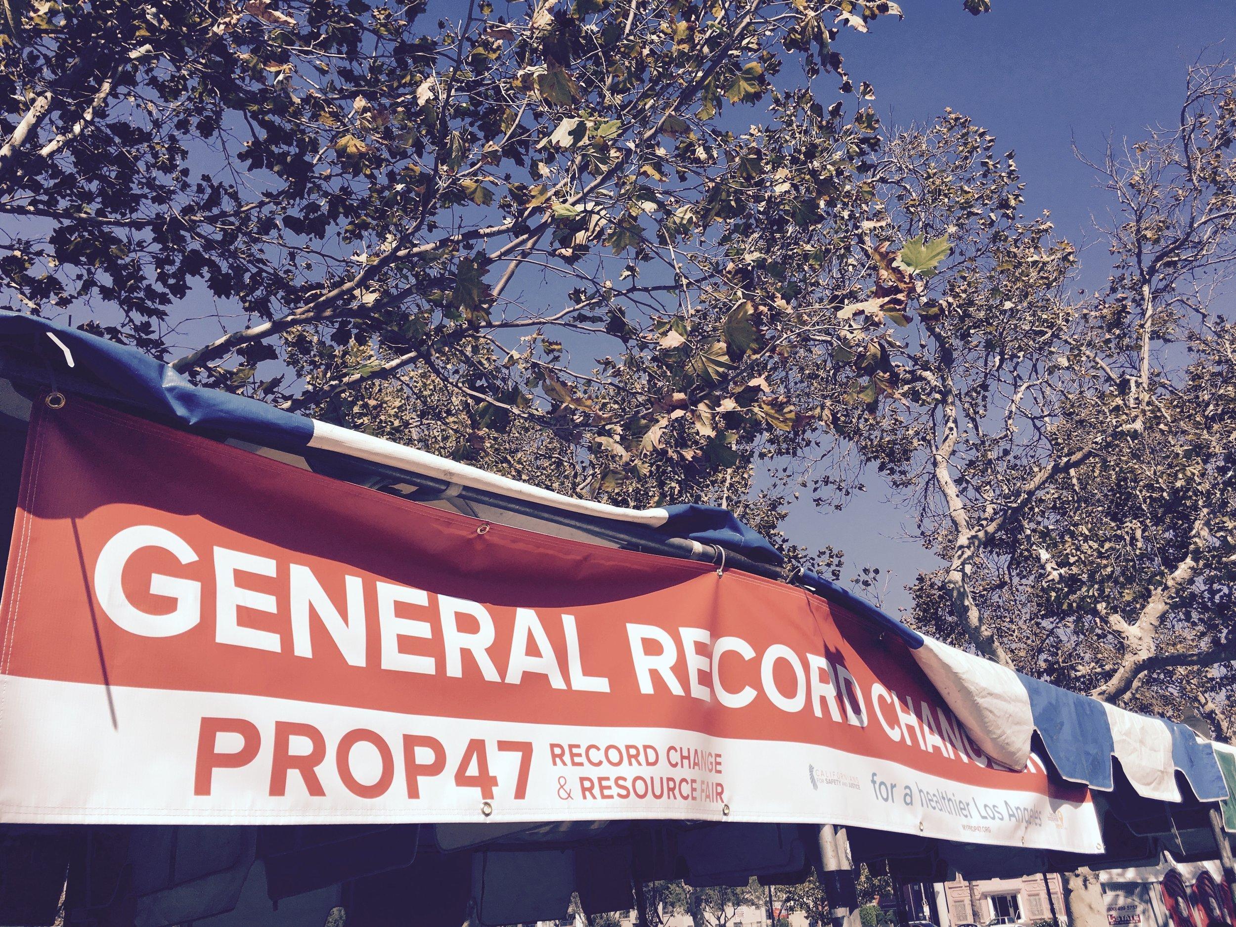 Prop 47 reduces certain low level felonies to misdemenors.