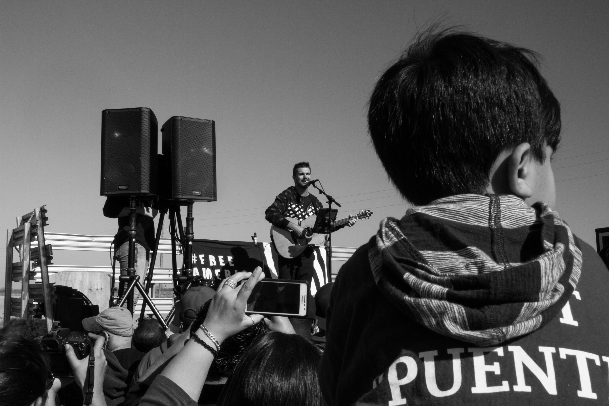 Protesting with the amazing folks from Puente.  Photo by Imani Lindsey